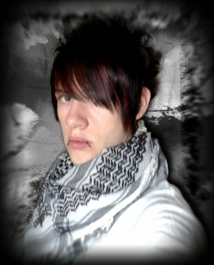 Me, Around 12 Years Ago. Emo Phase Hit Me Hard