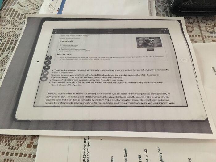 Mi madre fotocopia las recetas de su iPad