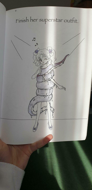 Found My Friends' Manga Drawing Book. I Had Fun