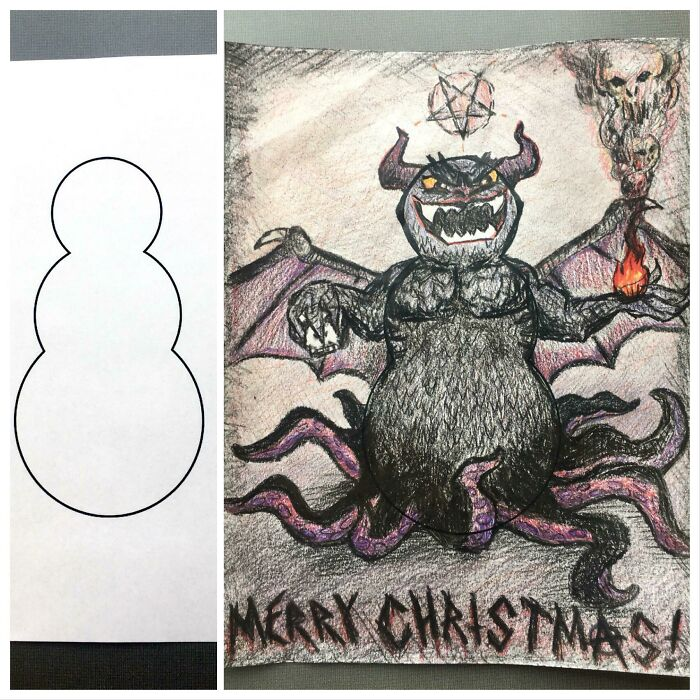 My Workplace Said To Get Creative In The Snowman Coloring Contest