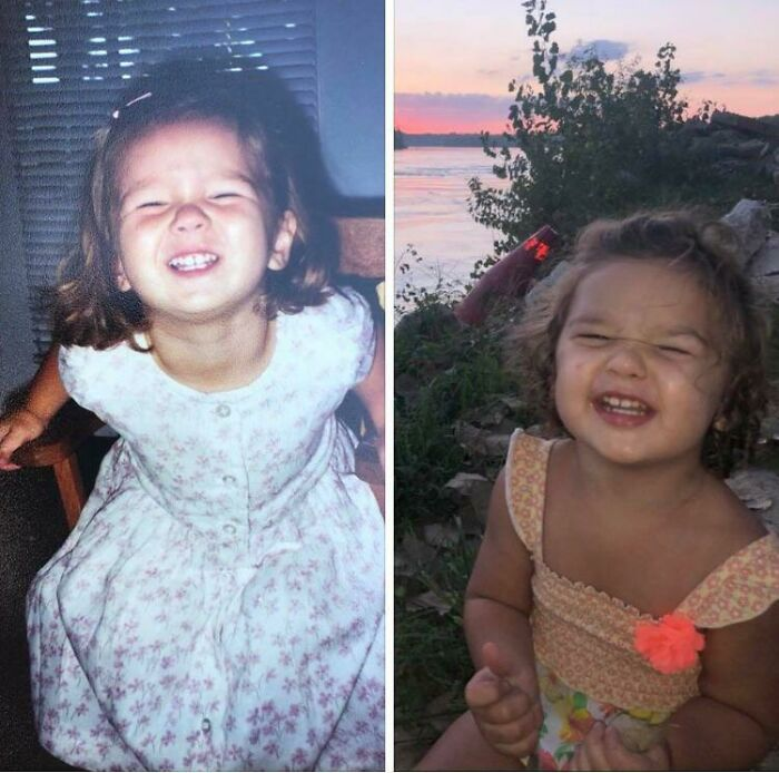 My Daughter, Age 2 In 1998 On The Left, My Granddaughter, Age Two In 2019 On The Right