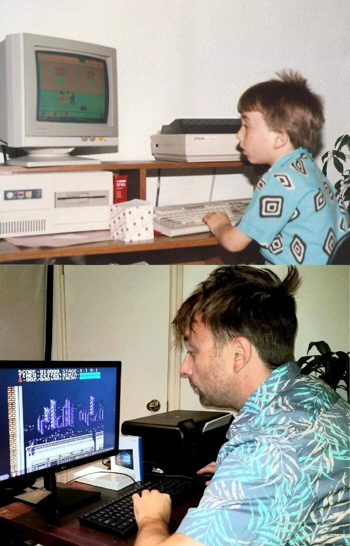 I Found An Old Pic Of Me Playing Computer Games. As It Turns Out I Haven't Changed Very Much