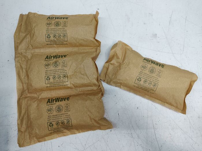 A Supplier Of Ours Now Fills His Packages With Air-Cushions Made Out Of Paper Instad Of Plastic