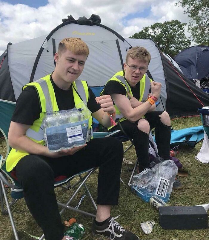 Snuck Into A Festival Using Bottles Of Water And A Hi Vis Vest