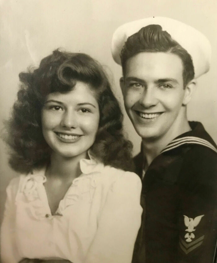My Ridiculously Attractive Grandparents Sitting For A Portrait In The Early 1940s