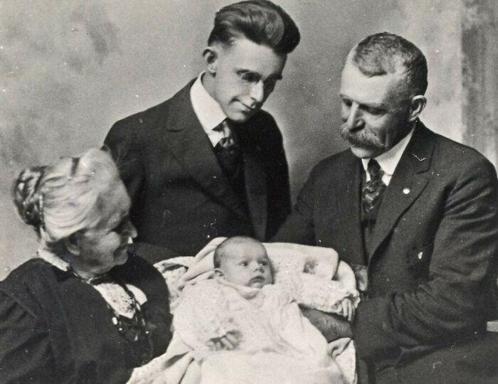 My Grandfather, Great-Grandfather, Great-Great-Grandfather, And Great-Great-Great Grandmother, Ca 1918