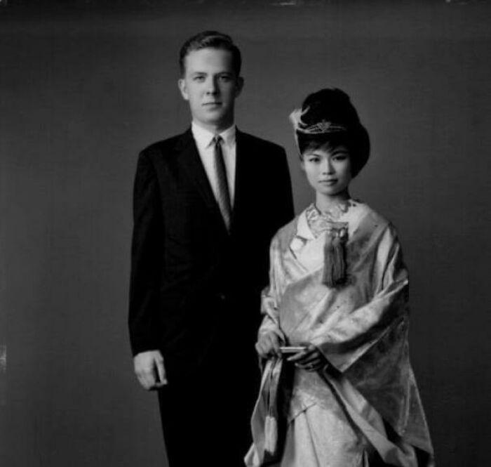 My Parents' Wedding Photo, Okinawa, 1964