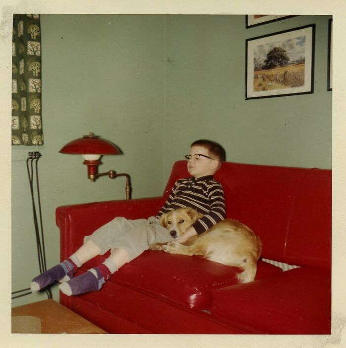 Me And My Best Friend Rocky Watching TV, 1959