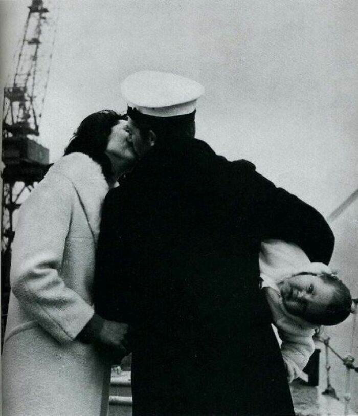 """A Sailor """"Meets"""" His Baby For The First Time After Fourteen Months At Sea, 1940s"""