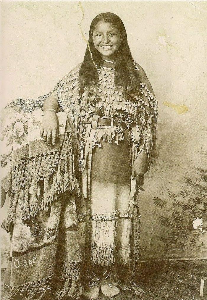 A Native American Girl Of The Kiowa Tribe, Oklahoma, 1894