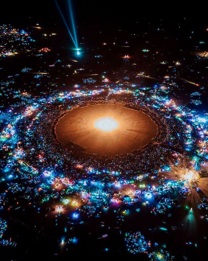 A Shot Of Burning Man That Looks Like A Solar System