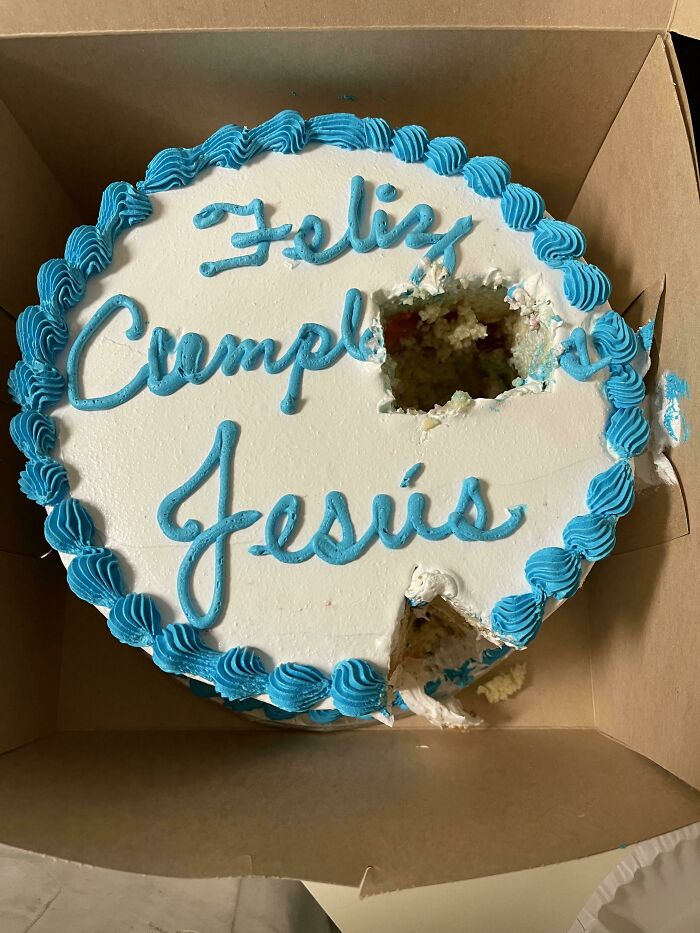 Someone Cut The Cake That Was For Me Today At Work Without Telling Anyone In The Break Room