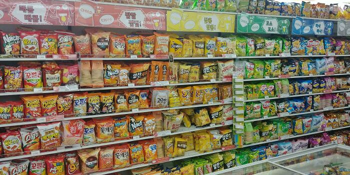 Chips Organized Into A Rainbow In Korea