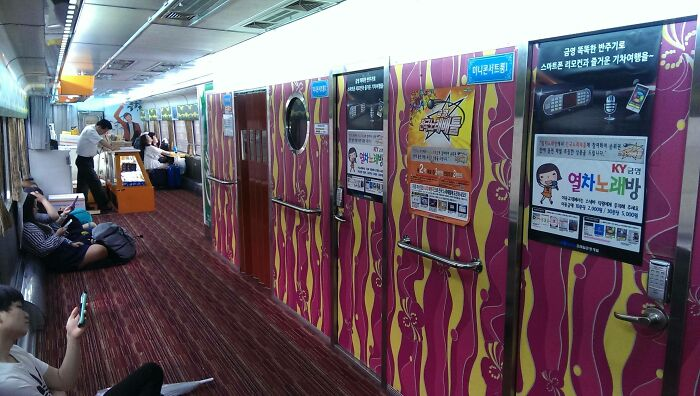 In Korea, They Have Single Person Karaoke Booths On The Train