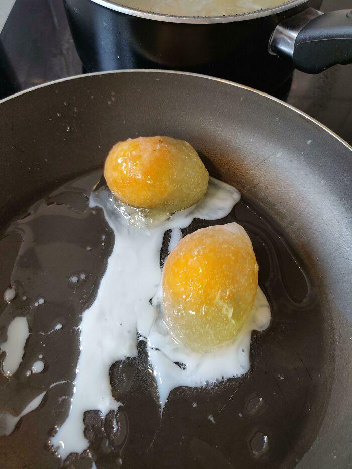 Parece ser que mi nevera decidió congelar los huevos. Que tengan un buen día
