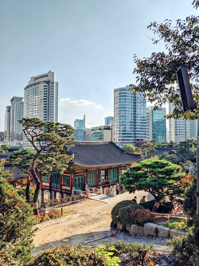 Modern Korea Built Around Historic Korea (Seoul)