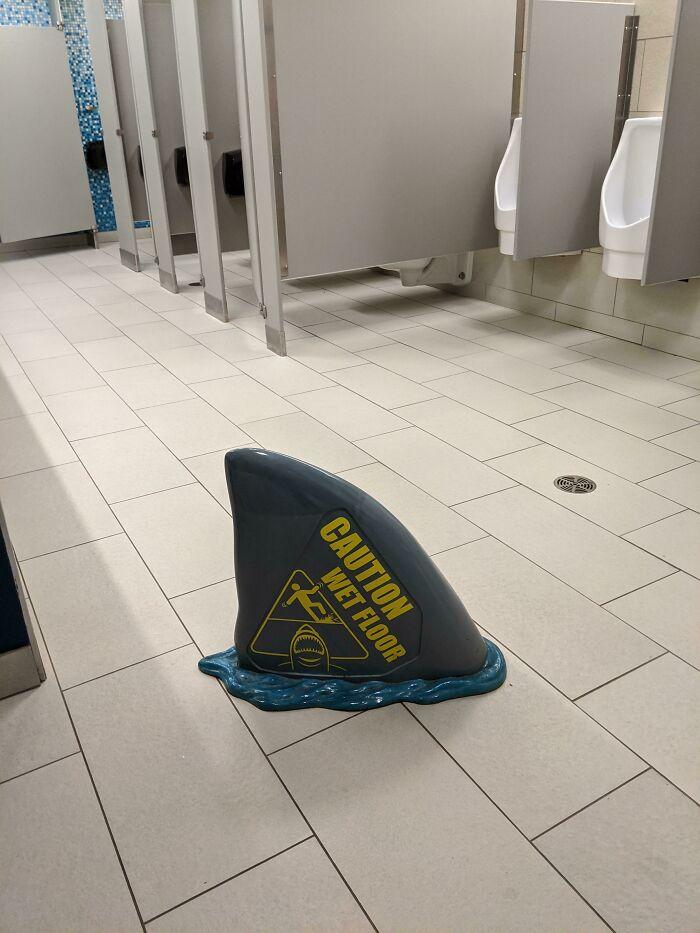 This Wet Floor Sign At The Toronto Aquarium