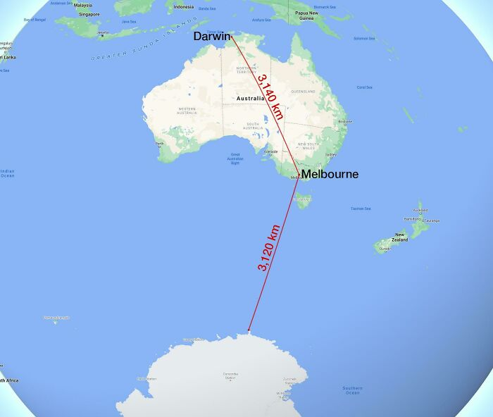 Til Melbourne Is Closer To Antarctica Than It Is To Darwin
