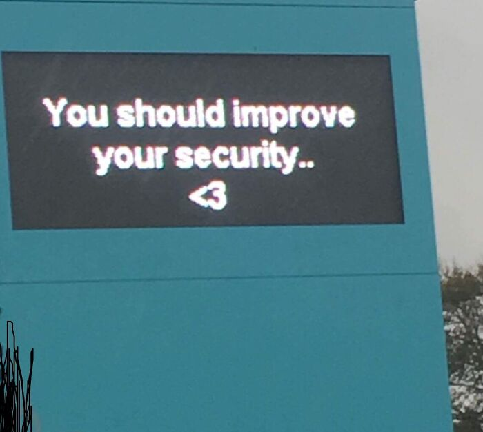 The LED Sign Outside My School Today