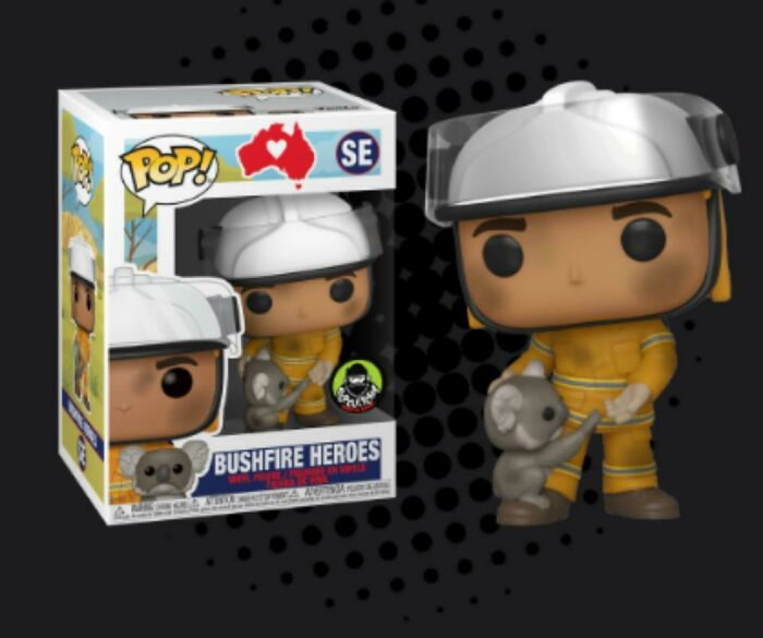 Funko Just Released A Pop On Popcultcha (A Pop And Collectable Website) Of A Bushfire Hero. All Proceeds Go To Bushfire Efforts