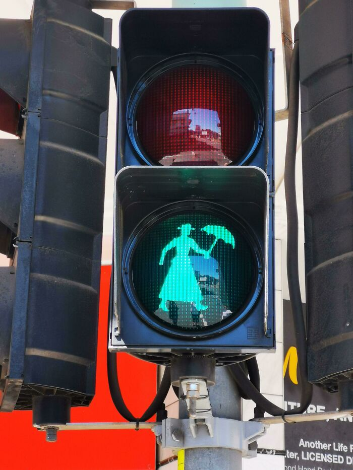 In Maryborough Queensland Australia Birthplace Of Mary Poppins Author Pl Travers, They Have Mary Poppins Crossing Lights