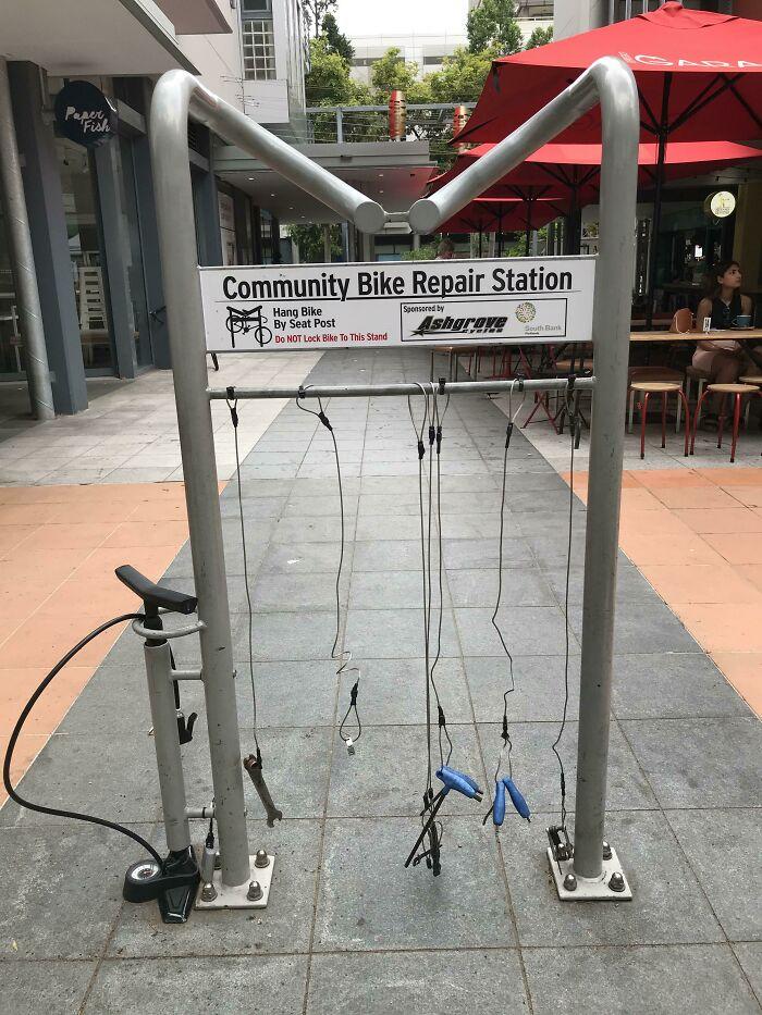 The City Of Brisbane, Australia, Has Public Bike Repair Stations
