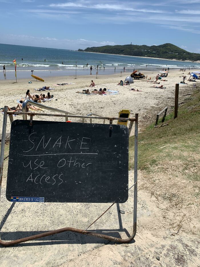 I Did Laugh At The Casual Nature Of This Very Australian Warning Found At Byron Bay Beach
