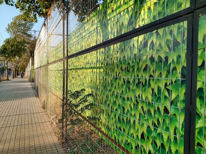 This Fence Looks Like The Boundaries Of A Game's Playable Area