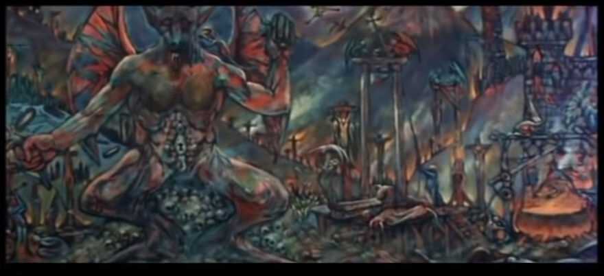 """Close Up Of Painting Made By Burt Shonberg For The Roger Corman Film """"The Premature Burial"""" 1962.. Painting Is Never Shown In It's Entirety In The Film, Only Through A Close Up And A Masterful Pan"""