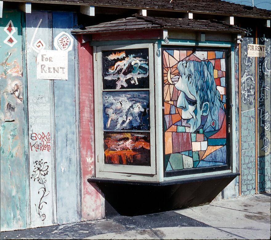 Exterior Of Cafe Frankenstein By Burt Shonberg, Laguna Beach California Exterior Of Cafe Frankenstein, Photograph By Doris I. Walker May 1961