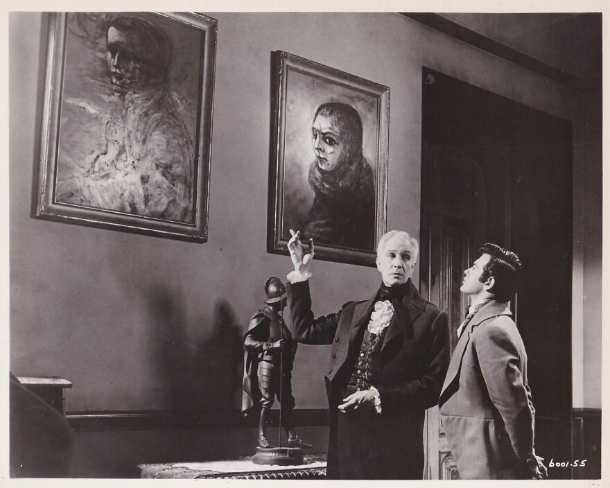 """Burt Shonberg's Art In The Film """"The Fall Of The House Of Usher"""" Staring Vincent Price 1960"""