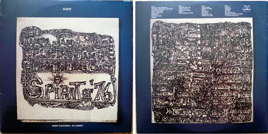 """Burt Shonberg's Art On The Covers Of Spirit's Album """"Spirit Of '76"""""""
