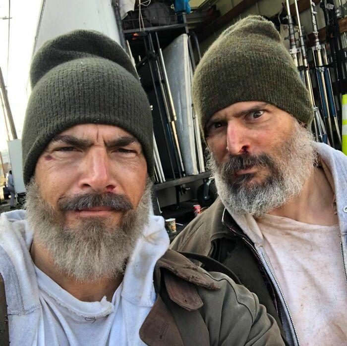 Trabajando junto a uno de mis favoritos. ¡Mi viejo amigo Joe Manganiello siempre hace que el tiempo en el set sea divertido y profesional! Gracias por tu lealtad, amigo