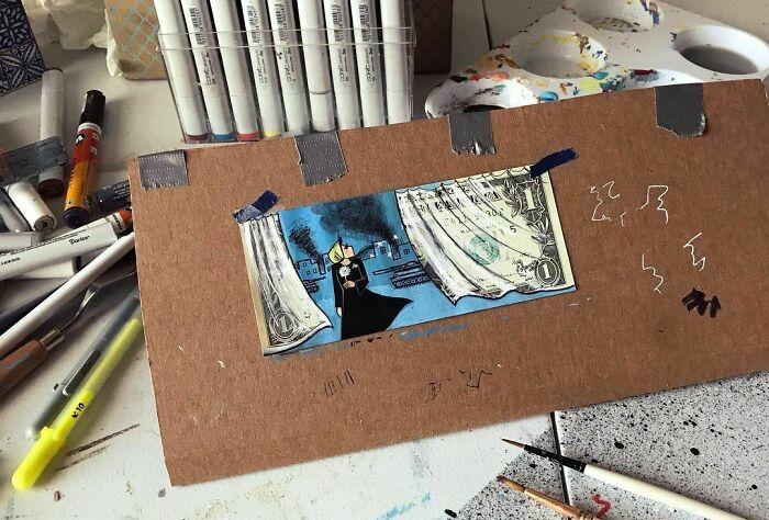 Series: The 3rd World / جهان سوم #wish #warzone #war #peace #behindthescenes #politics #explosion #afghanistan #my #home #love #identity #roots #artwork #painting #money #1 #dollar #banknote #art #artistsoninstagram #artist #afghanartist #2021 #هنر #هنرمند #نقاشي #جهان_سوم #كابل #افغانستان