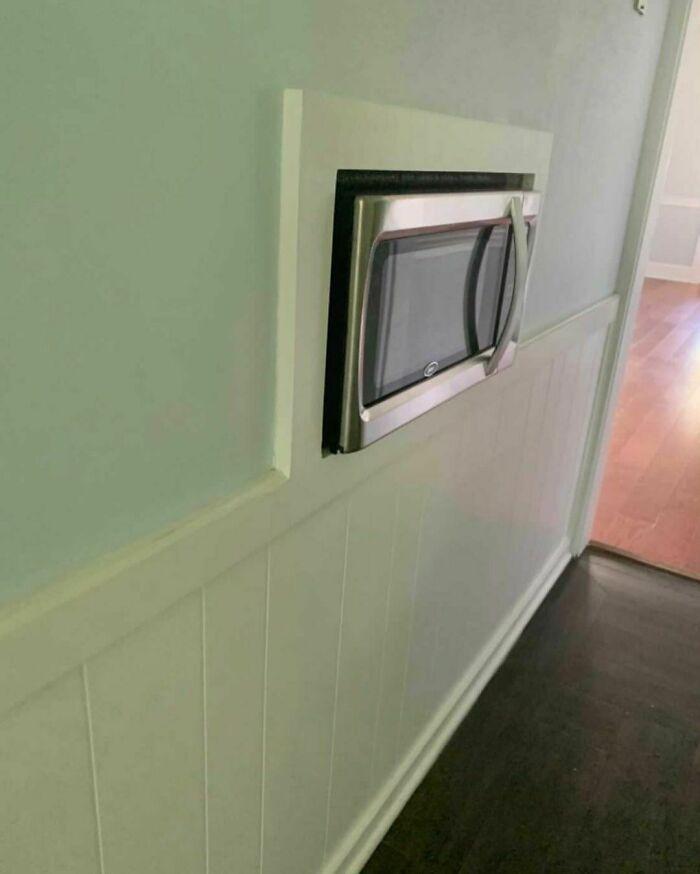 Luxury Is A Built-In Hallway Microwave