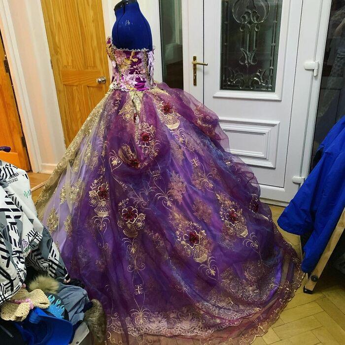 First Draft Of Rapunzel Gown
