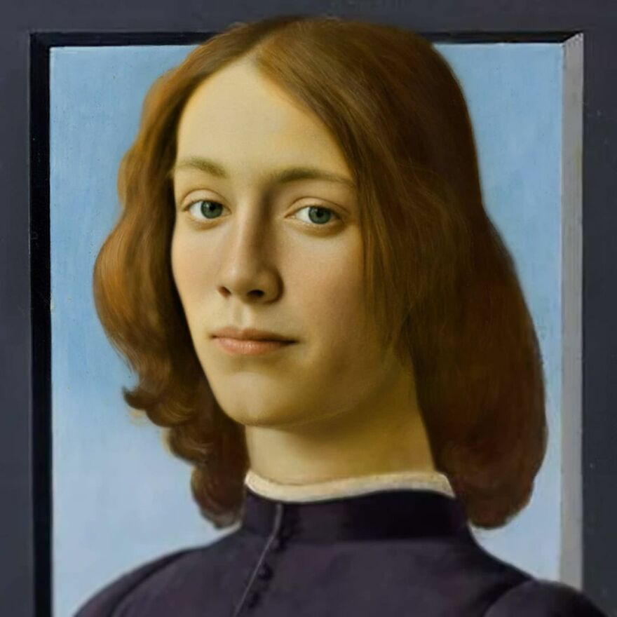 Sandro Botticelli's Portrait Of A Young Man Holding A Roundel