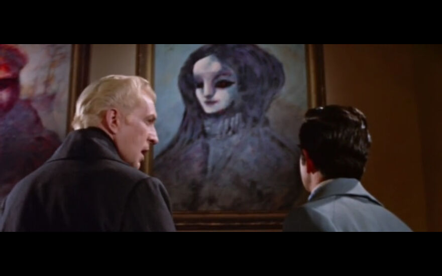 """Burt Shonberg Painting Commissioned By Esteemed Director Roger Corman For The Film """"The House Of Usher"""" 1960 Staring Vincent Price"""