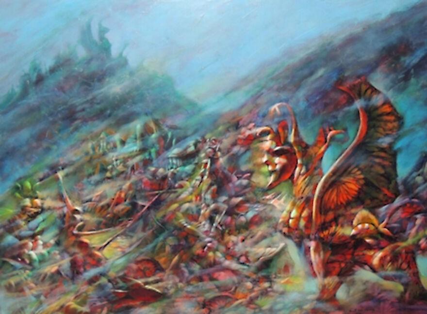 Burt Shonberg Painting, No Date