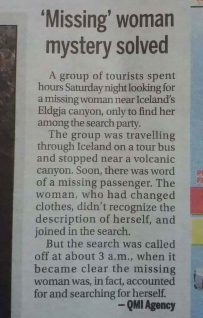 This Lady Was In A Search Party Looking For... Herself!