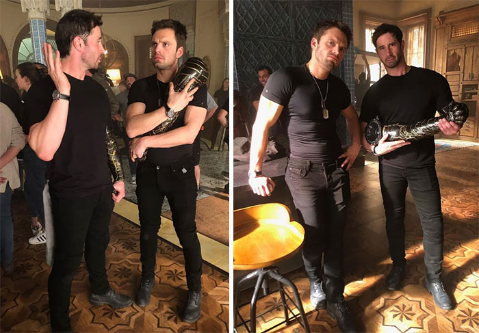 Sebastian Stan With His Stunt Double, John Nania