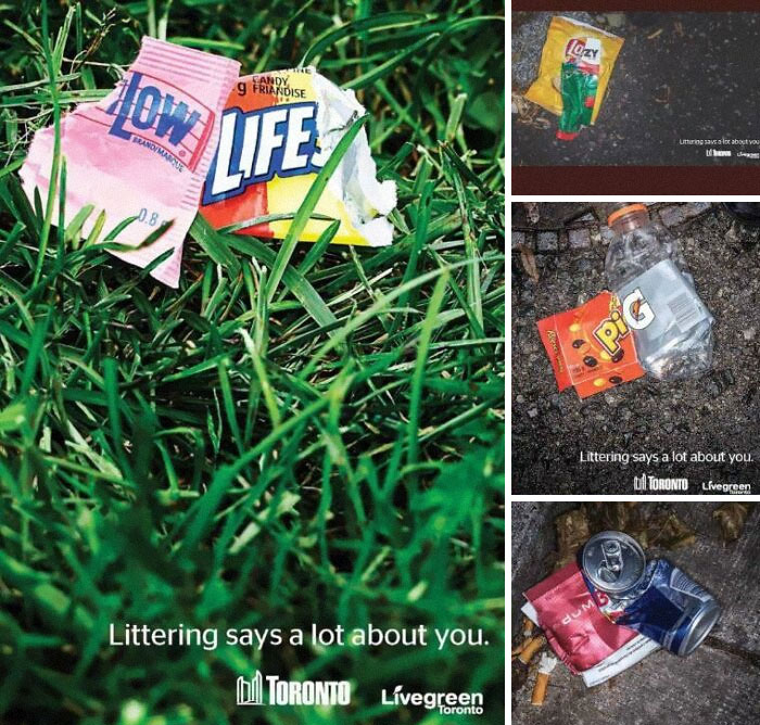 Ads Against Littering In Toronto