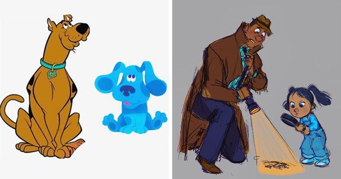 Artist Creates Human Versions Of Animal Pics And Cartoon Characters (25 Pics)