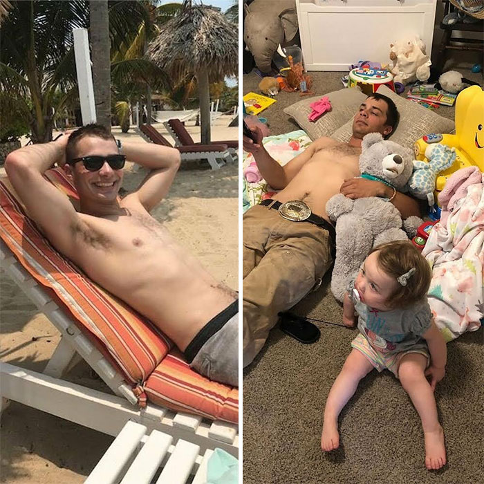 From Sunbathing To Bear Hugging, Relaxing Changes When You Have Kids