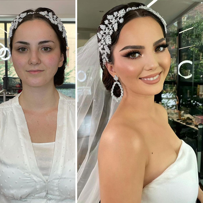 21 Women Before And After Their Bridal Makeup By Arber Bytyqi (New Pics)
