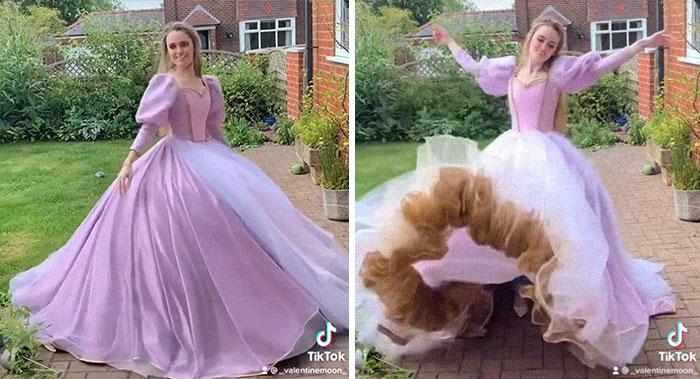 Barbie As Rapunzel Ballgown