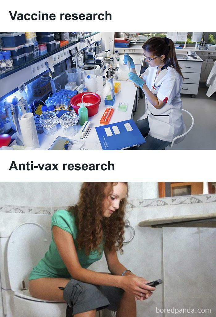 """Anti-Vaxxers Be Like """"Do Some Research!"""""""