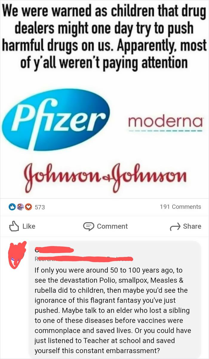 Anti-Vaxxer Thinks Vaccines Are Dangerous Drugs