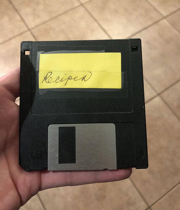 Mi abuela me pasó sus recetas en un disquete