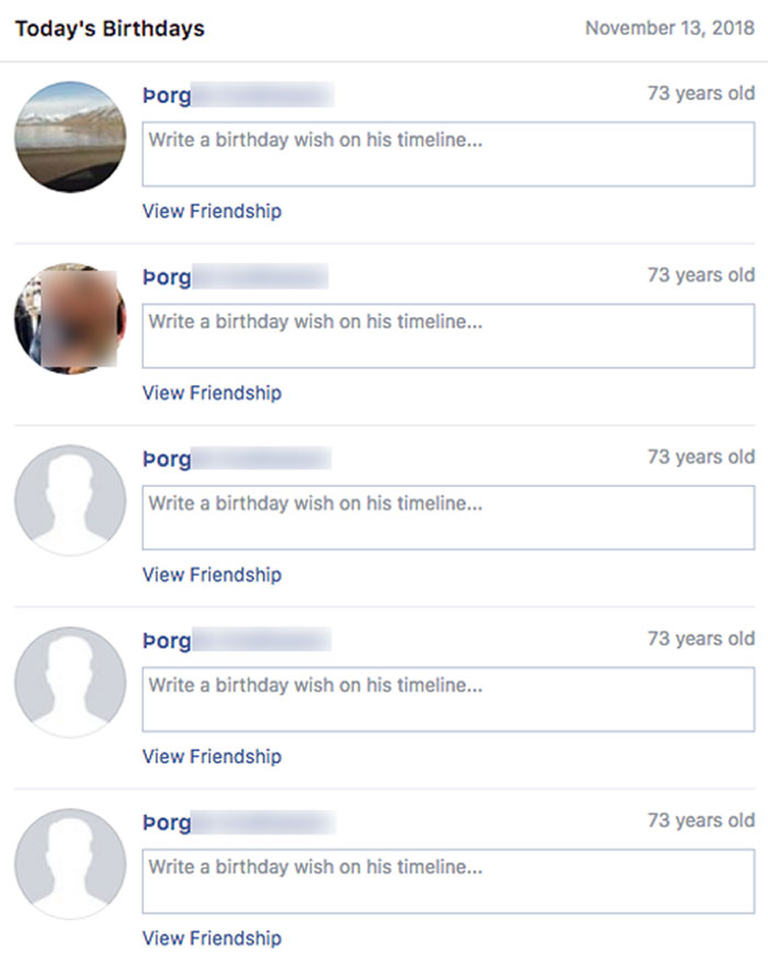 When My Grandfather Has To Log Into Facebook, He Creates A New Account Instead. Today Is His Birthday